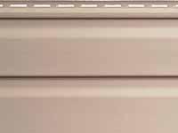 Фото винилового сайдинга для отделки наружных стен дома, цвет - россо
