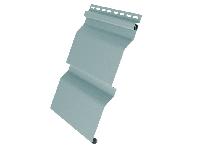 Наружный виниловый сайдинг «Корабельная доска»: фото образца панели, цвет - голубой