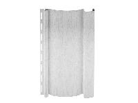 Наружный виниловый сайдинг «Гранд Лайн» : фото образца панели, цвет - белый