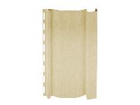 Фото наружного винилового сайдинга для отделки фасада дома, цвет - ванильный