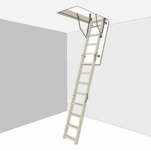 Купить раздвижную чердачную лестницу с люком Docke DSS 60х120х280