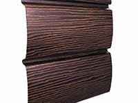 Фото панели винилового сайдинга «Ю-пласт» серии «Timberblock» для наружной отделки дома, цвет дуб мореный