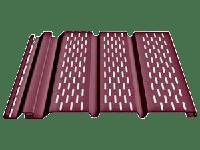 Перфорированный софит «Docke» 3050мм для подшивки свесов крыши, цвет - гранат