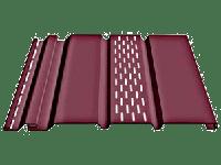 Софит «Docke» 3050мм частично перфорированный для подшивки свесов крыши, цвет - гранат