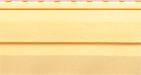 Фото винилового сайдинга для наружной обшивки фронтона крыши, стен дома, цвет -желтый