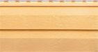 Фото образца винилового сайдинга для наружной отделки дома, цвет - золотистый