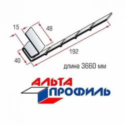J-фаска для сайдинга Альта-профиль 3660 мм