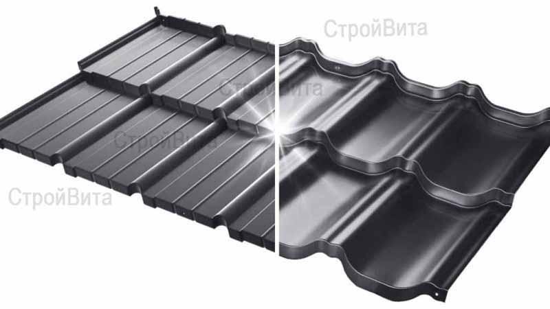 Польская модульная металлочерепица «Венеция» («Budmat»), цвет черный S-Pure P905B
