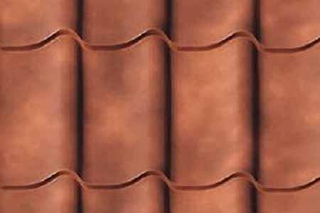 Фото образца металлочерепицы с декоративным покрытием Granite® Cloudy