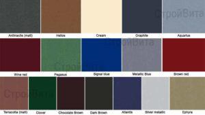 Доступные цвета покрытия Colorcoat Prisma® (Призма)