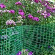 Пластиковая сетка для забора и садовых ограждений