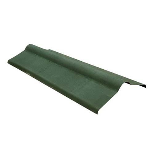 Конек из ондулина зеленого цвета, размеры