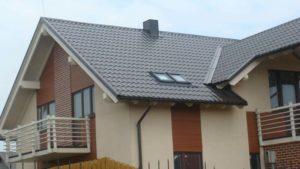 Черный цвет металлочерепицы для крыши, фото Монтеррей
