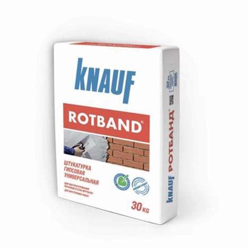 Ротбанд Кнауф штукатурка гипсовая 30 кг, расход, цена