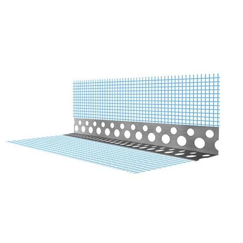 Угол перфорированный алюминиевый с сеткой для штукатурки, цена