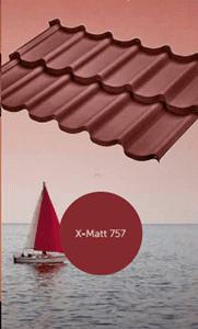 Металлочерепица BudMat оцинкованная с полимерным покрытием X-Matt 757