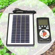 Фото контроллера на солнечной батарее для управления капельным поливом