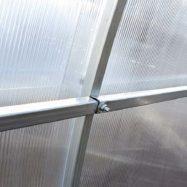 Фото соединение двух металлических труб каркаса теплицы Компакт, производитель Агросфера