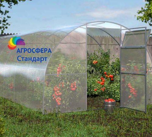 фото теплицы Стандарт от производителя Агросфера, РФ, Смоленская область, г. Ярцево