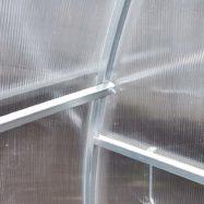 Фото соединительного узла металлокаркаса теплицы из сотового поликарбоната