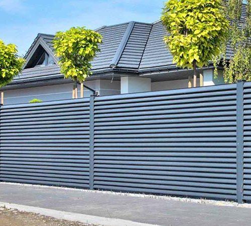 Металлический горизонтальный забор-жалюзи от производителя