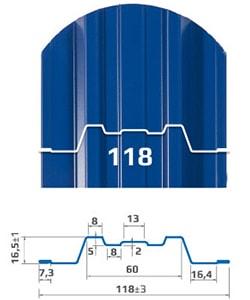 Размеры и форма металлоштакетника Трапеция