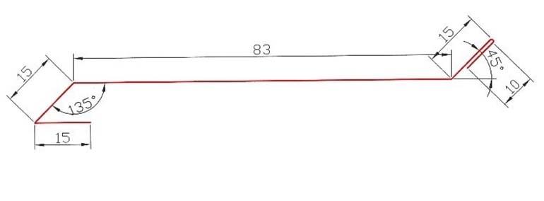 Размеры и форма ламели Эко