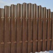 Забор из металлоштакетника от производителя Юнис Трейд фото