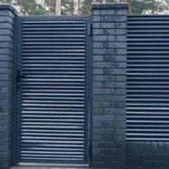 Металлический забор-жалюзи Твинго фото