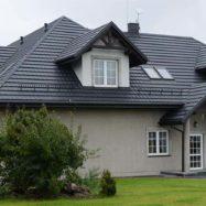 Дом с крышей из модульной черепицы Мурано, производитель Budmat (Будмат)