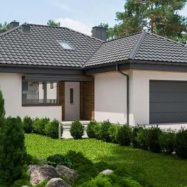 Фото дома с кровельным покрытием модульной металлочерепицей Ferrara