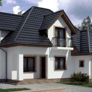 Фото крыши из модульной металлочерепицы Germania Simetric от производителя «Бляхотрапез» (Польша)