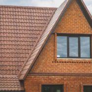 Фото крыши коричневого цвета из металлочерепицы Классик от производителя Grand Line