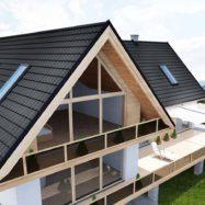 Фото крыши из модульной металлочерепицы Talia от производителя «Бляхотрапез» (Польша)