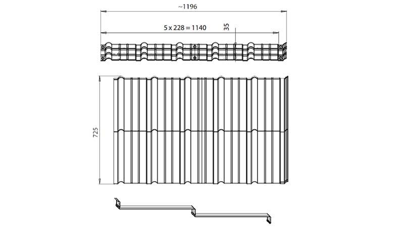 Модульная металлочерепица для крыши Мурано размеры листа, длина и ширина