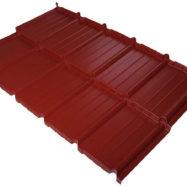 Модульная металлочерепица Murano (Мурано) с покрытием S-Pure, цвет светло-вишневый