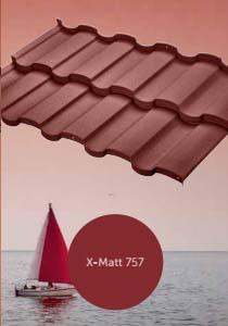 Тип покрытия металлочерепицы Риалто (BudMat) x-mat 757