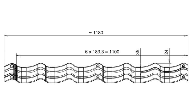 Модульная металлочерепица Bella Sara размеры листа, длина и ширина