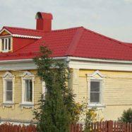 Дом с крышей из металлической черепицы СуперМонтеррей, фото