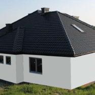 Дом с крышей из металлочерепицы Галла