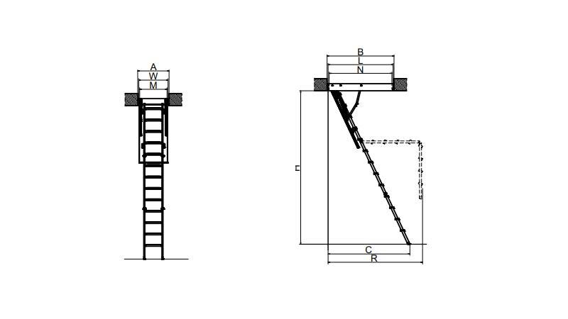 Складная чердачная лестница Fakro LMK