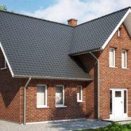 Дом обшитый сайдингом Solid Brick Dorset, производитель Вокс