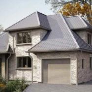 Дом обшитый сайдингом Solid Stone цвет Lazio производитель Vox