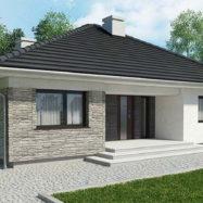 Дом обшитый сайдингом Solid Stone цвет Liguria производитель Vox