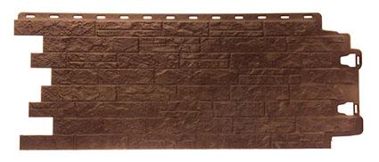 Фасадная панель для отделки дома Edel Деке цвет коричневый