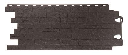 Фасадная панель для наружной отделки Деке коллекция Edel темно-серый