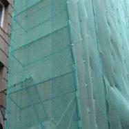 Сетка защитная затеняющая для фасада и лесов