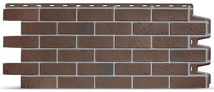 Фасадная панель Доке кирпич цвет кирпичный