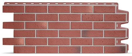 Фасадная панель Доке кирпич цвет красный Berg