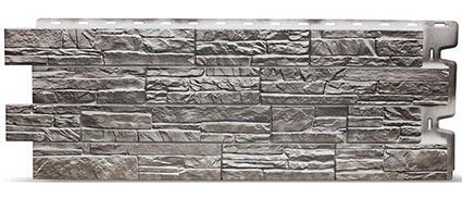 Фасадные панели для отделки дома Docke Stein под камень серый